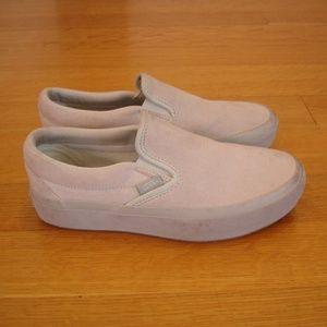 VANS (Women 6.5, Men 5), Off-White, Slip-On Shoes